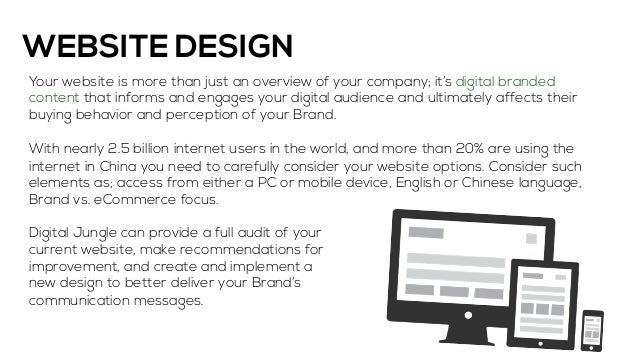 Sample website proposal presentation for How to plan a website