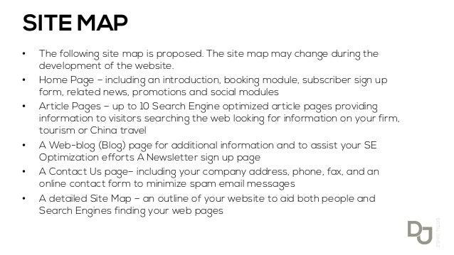 sample of website proposal