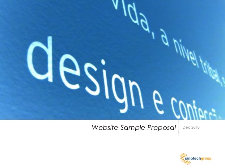 Website Sample Proposal   Dec 2010
