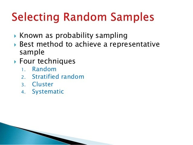 Examples of sampling techniques in research