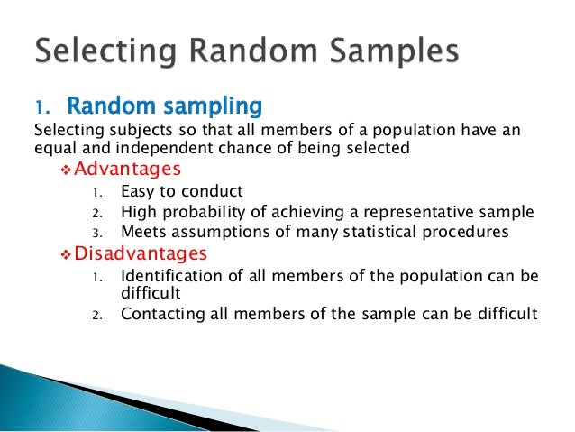 What is random sampling in research