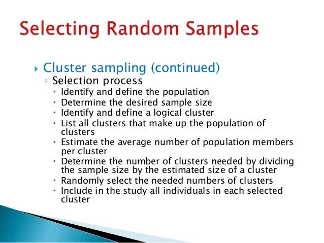 RESEARCH METHOD - SAMPLING