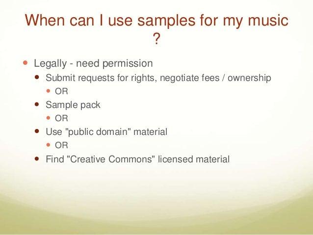 Music Sampling : Dancing the Legal Dance