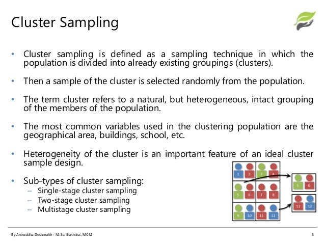 CLUSTER SAMPLING EXAMPLE EBOOK