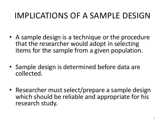 Sampling design, sampling errors, sample size determination