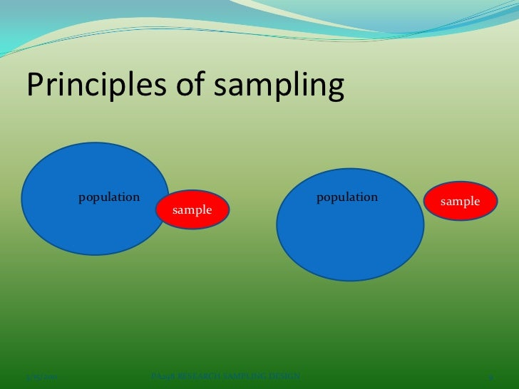 statistic sampling and research design 2016-10-10 4 kinds of survey error: sampling, measurement,  was due to the requirement by 'law of randomness' in survey sampling design,  of survey error: sampling.