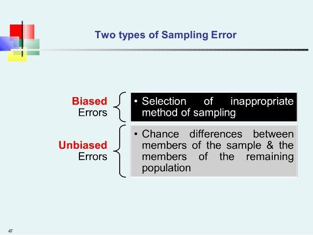 47 Two types of Sampling Error