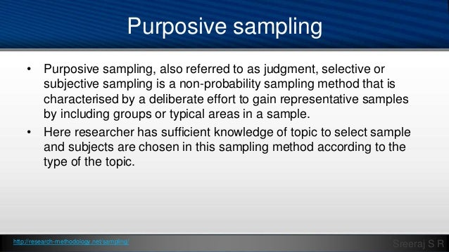 purposive sampling in qualitative research