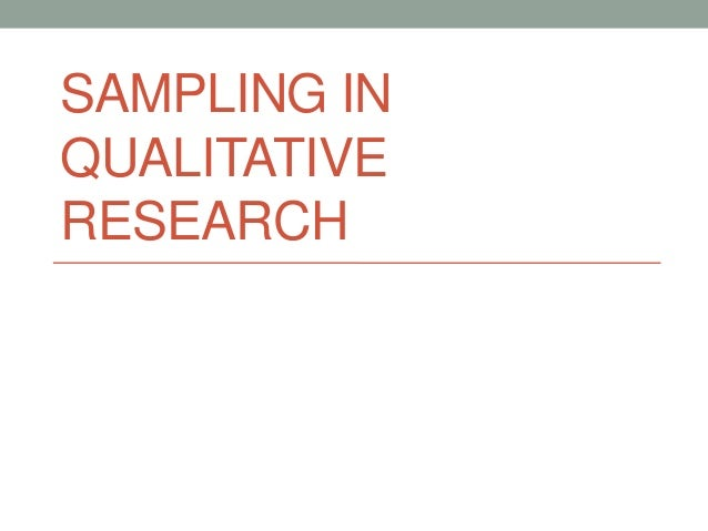 Benefits of qualitative research