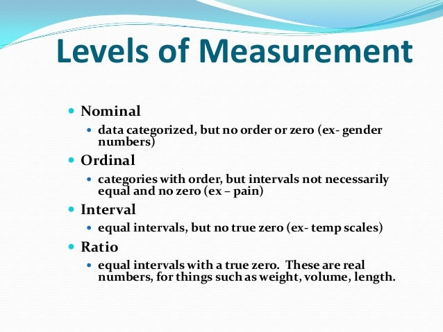 scales of measurement examples pdf