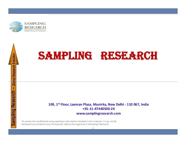 SAMPLING RESEARCH    pling Research – Glob Research Solution                        bal        S                          ...