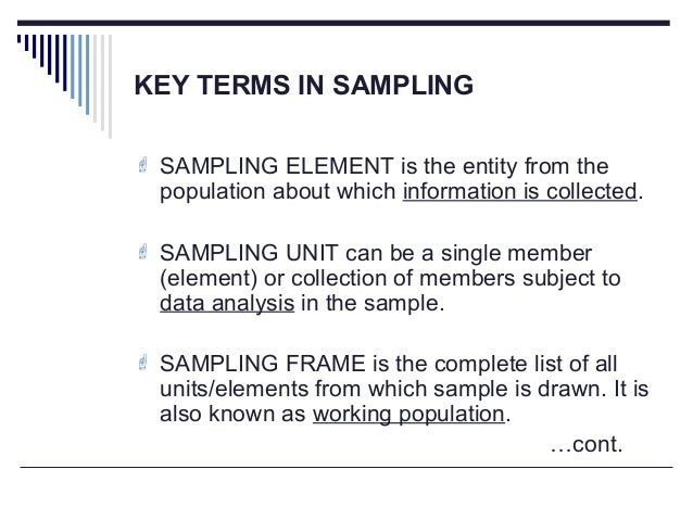Sampling techniques Systematic & Purposive sampling