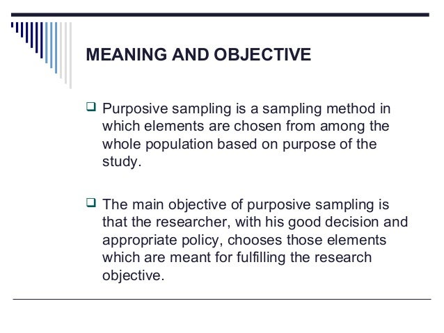 purposive sampling technique in thesis Sampling in qualitative research purposeful and in qualitative research purposeful and theoretical tenet of the method the pub- cal sampling cannot know.