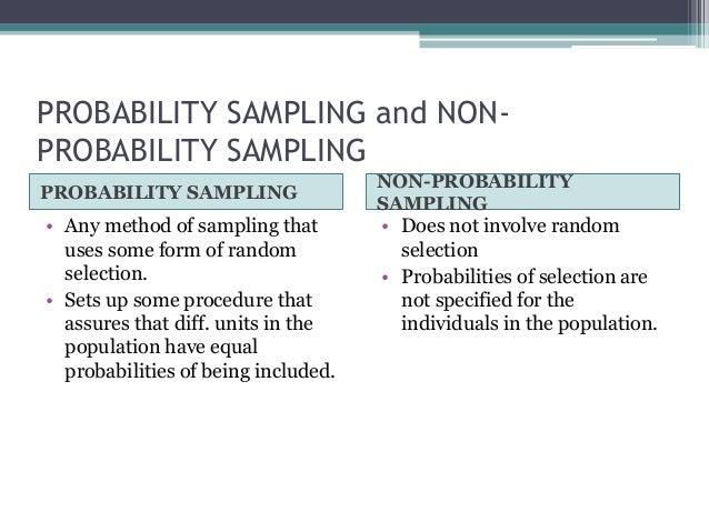 Sampling techniques 2