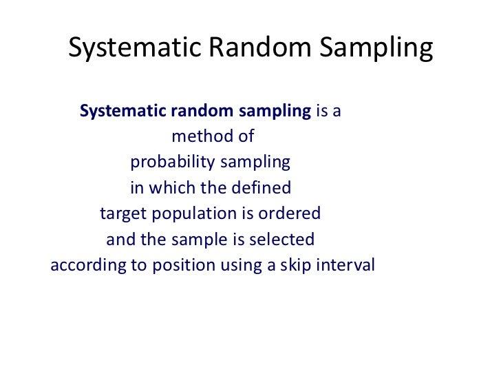 Sampling techniques market research