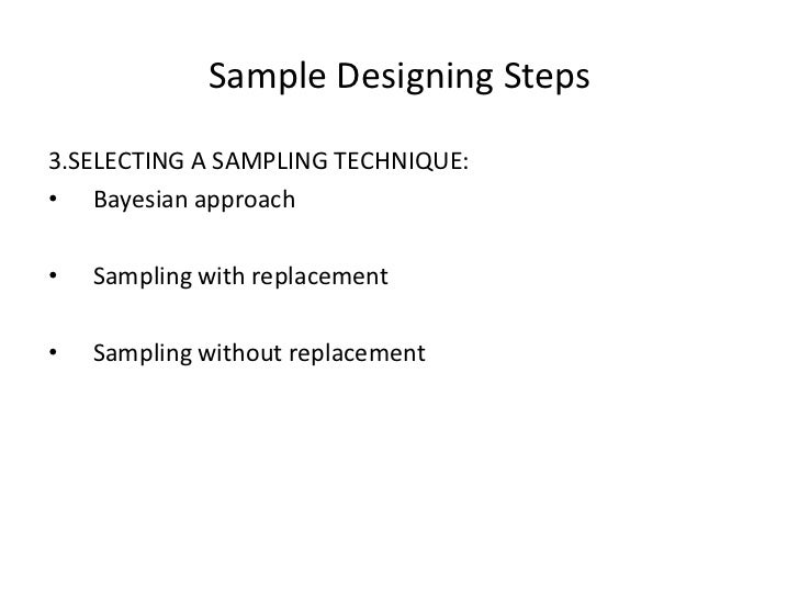 sampling techniques in marketing research Types of sampling methods and techniques in research the main goal of any marketing or statistical research is to provide quality results that are a reliable basis for decision-making that is why the different types of sampling methods and techniques have a crucial role in research methodology and statistics.