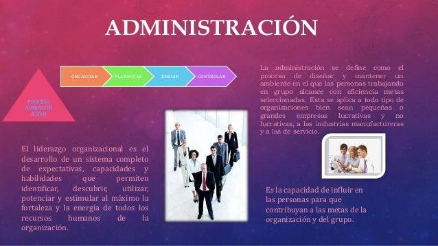 ADMINISTRACIÓNORGANIZAR PLANIFICAR DIRIGIR CONTROLARPROCESOADMINISTRATIVOLa administración se define como elproceso de dis...