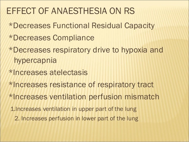 sam ppt on effect of anaesthesia on respiratory system