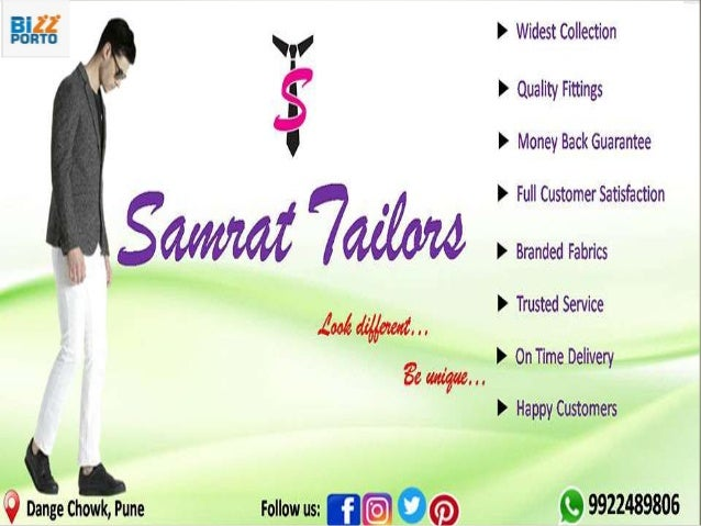 """About Us We """"Samrat Tailors"""" working since 1990 in the era of tailors. We are glad to make different and unique designers ..."""