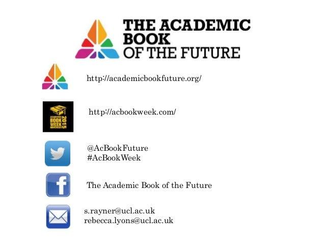 RLUK Warwick Meeting | Academic Book of the Future, Samantha Rayner