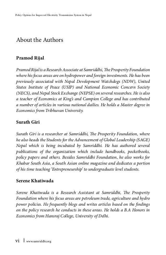 Economic analysis research paper series