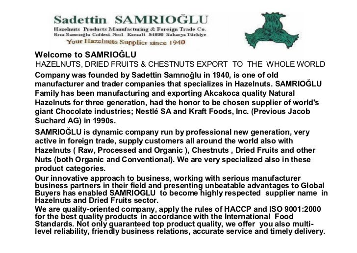 Samrioglu dried fruits  types, sizes, packages and varieties Slide 2