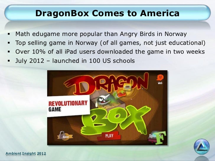 DragonBox Comes to America   Math edugame more popular than Angry Birds in Norway   Top selling game in Norway (of all g...