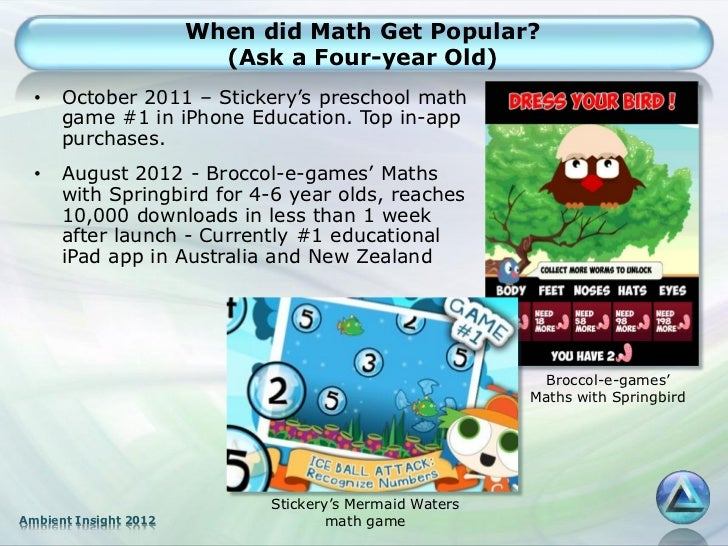 When did Math Get Popular?                         (Ask a Four-year Old)  •   October 2011 – Stickery's preschool math    ...
