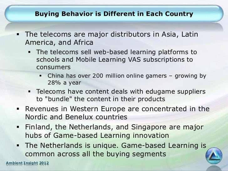 Buying Behavior is Different in Each Country     The telecoms are major distributors in Asia, Latin      America, and Afr...