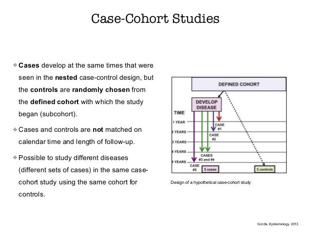 case cohort study design definition Field epidemiology manual any case cohort study could be thought off as nested from the source population moren a the case-cohort design in outbreak.