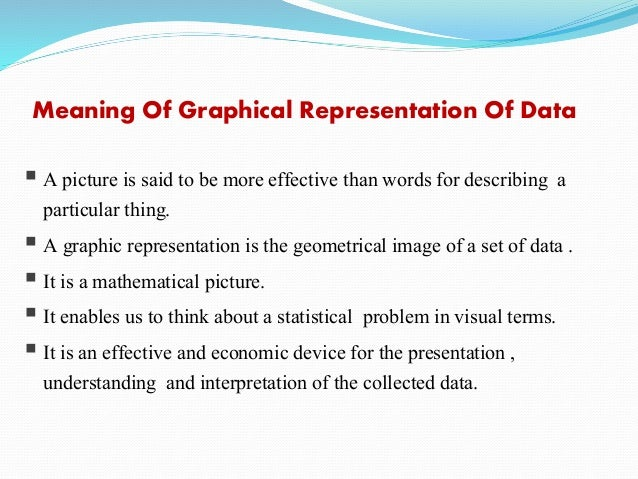 Numerical & graphical presentation of data.