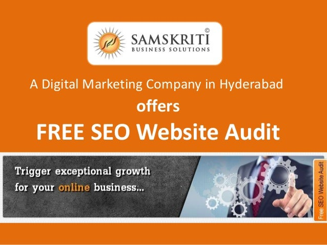 offers FREE SEO Website Audit A Digital Marketing Company in Hyderabad