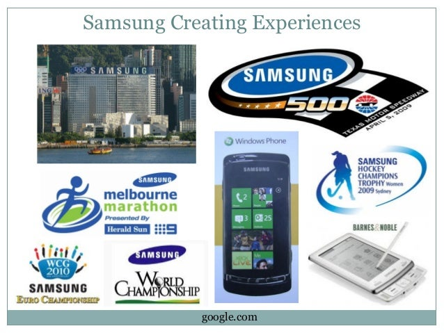 marketing and samsung Last year, samsung increased its advertising budget by 15 percent, while lg spent 214 percent more money on promoting its products.