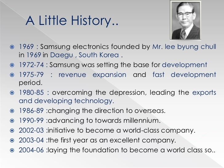 lee byung chull founder of samsung essay 1 introduction 1 1 background the samsung group was founded by byung-chull lee in 1938, in taegu, korea, as an exporter of dried fish, vegetables and fruits.