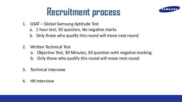 samsung recruitment process Samsung electronics co ltd and lg electronics were accused of agreeing not to poach each other's us employees, according to a us civil lawsuit filed last week, in what has become a familiar.