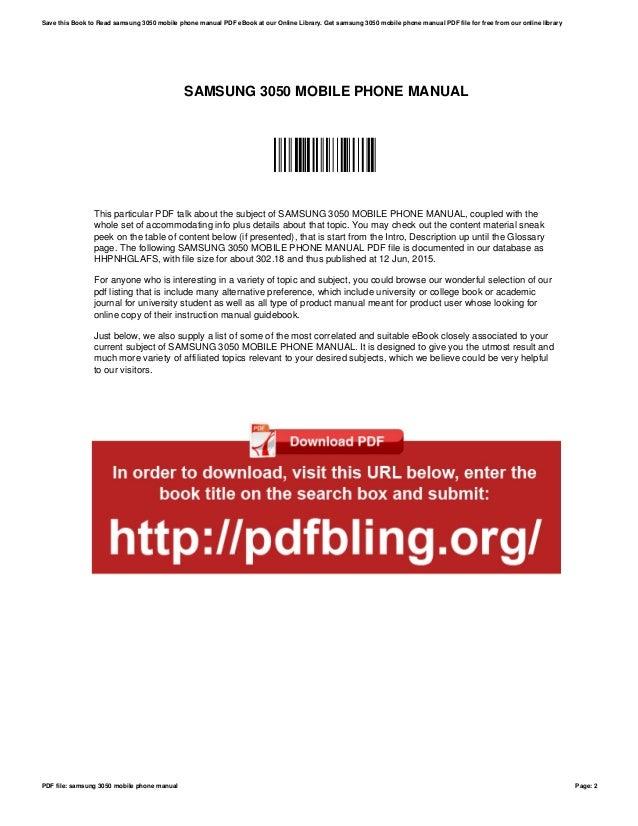 samsung 3050 mobile phone manual rh slideshare net samsung ml 3050 service manual pdf samsung c3050 manual free download