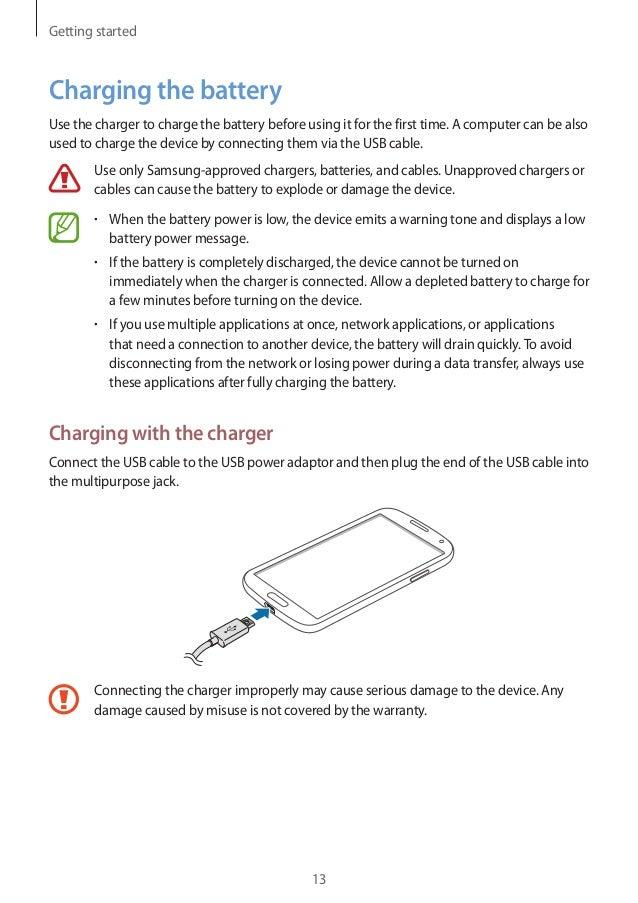 samsung galaxy s4 manual user guide rh slideshare net Samsung ManualsOnline samsung charging pad user manual