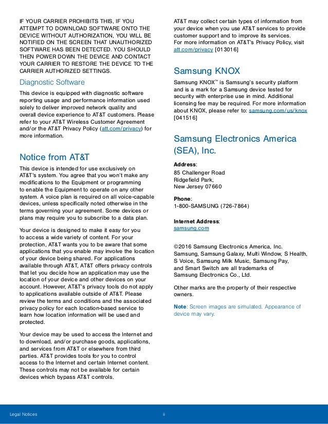 Samsung Galaxy S7 active manual / user guide Slide 3