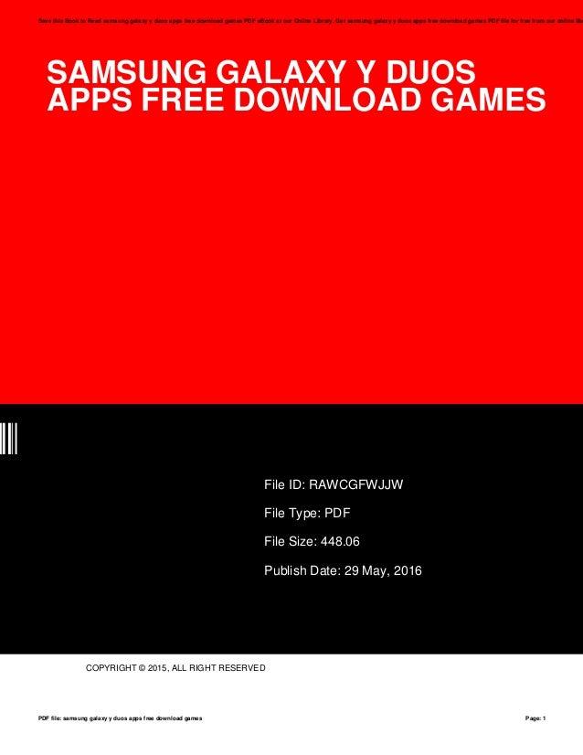 Samsung galaxy-y-duos-apps-free-download-games