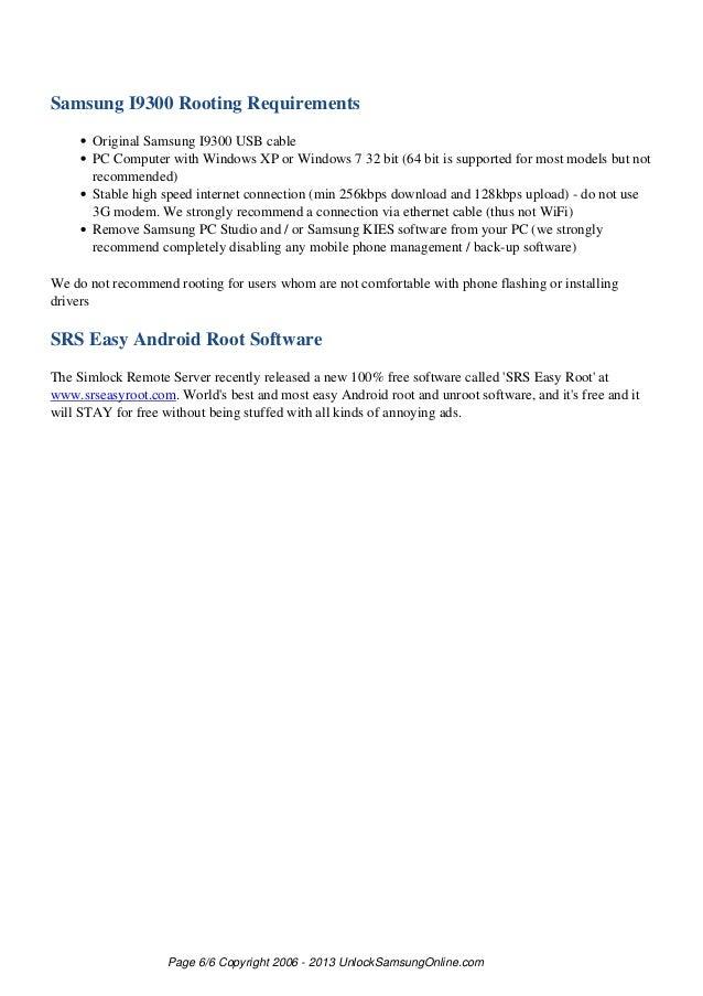 Samsung i9300 rooting manual