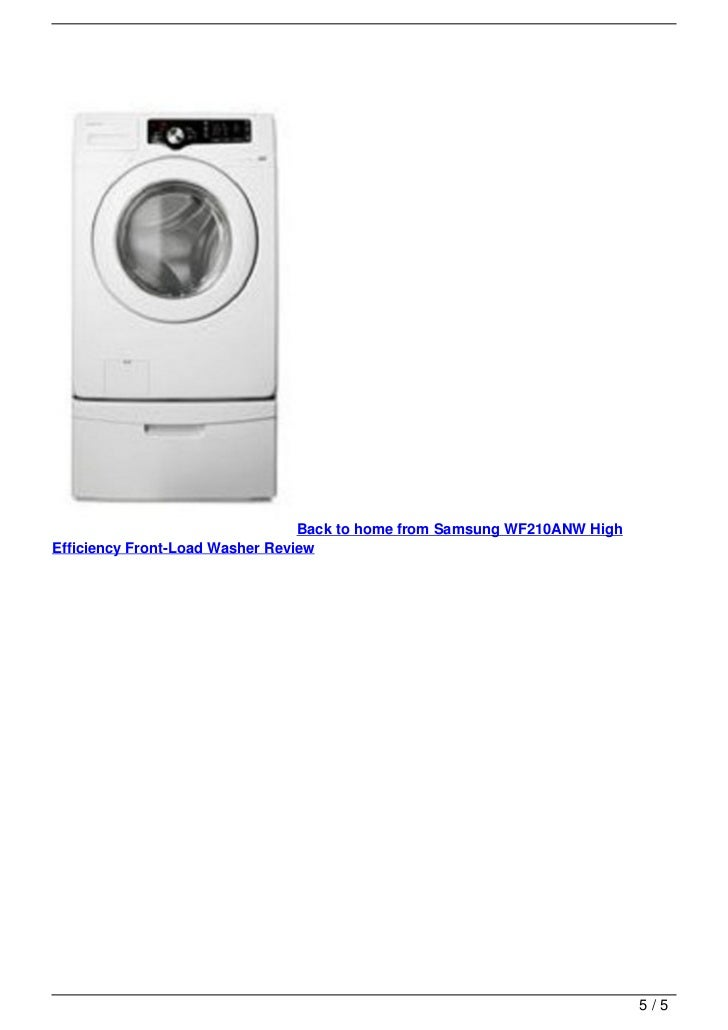 samsung wf210anw high efficiency front load washer review