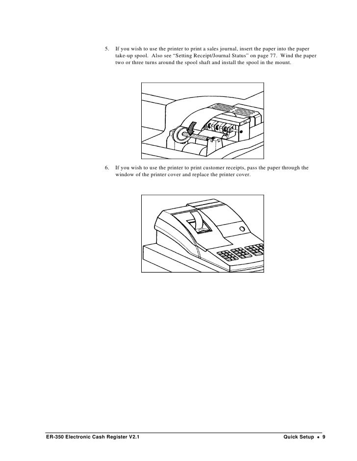 Manual para Caja Registradora Samsung 350