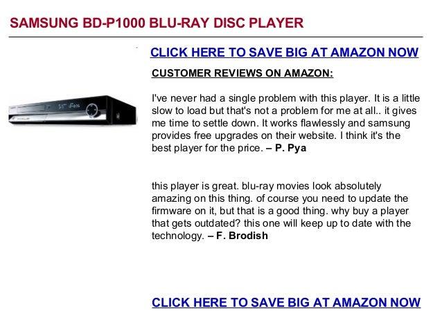 Samsung BD-P1000 Sale