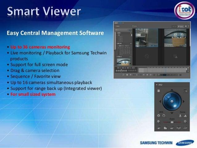 samsung techwin hanwha rh slideshare net Smart Viewer App Smart Viewer Windows