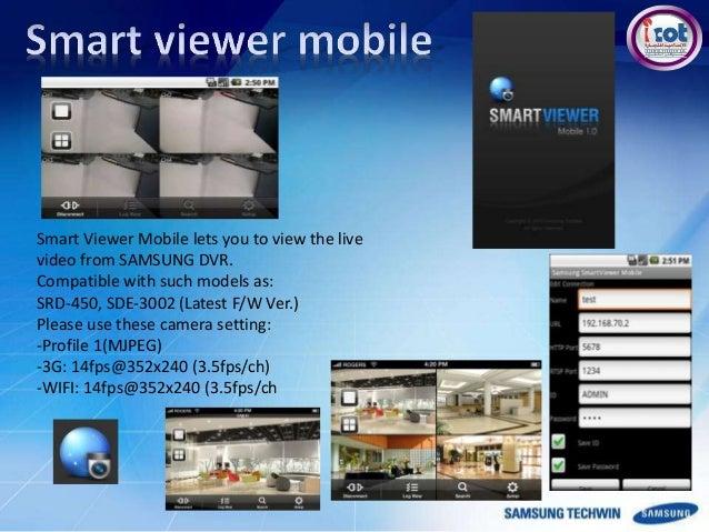 samsung techwin hanwha rh slideshare net Smart Projector Smart Viewer for Mac