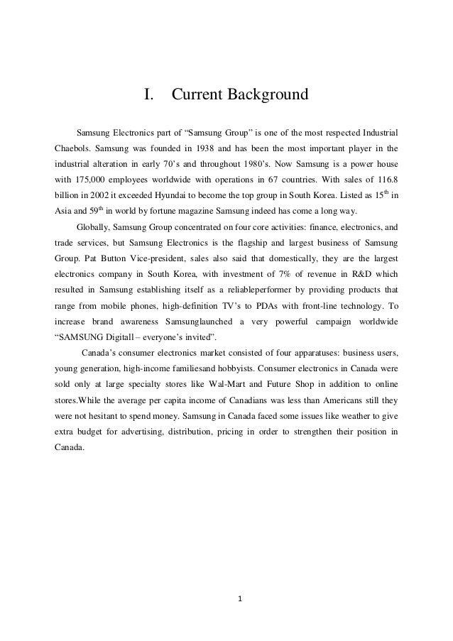 samsung operation management case study