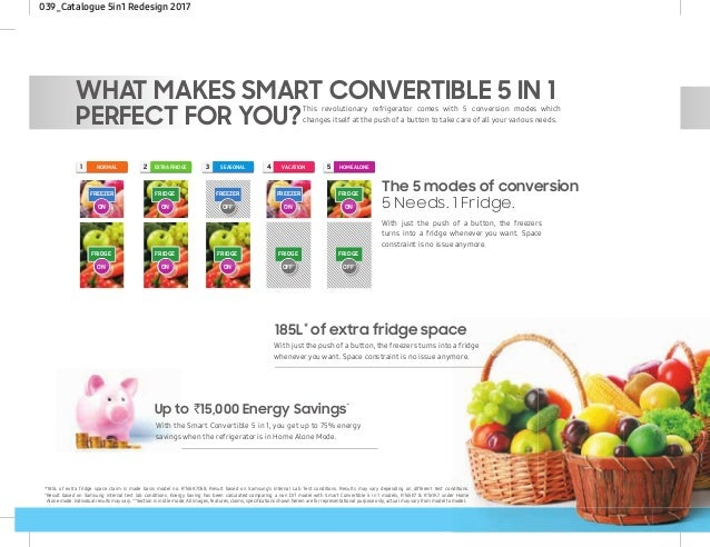 Welcome the 5 in 1 Smart Convertible Fridge by Samsung