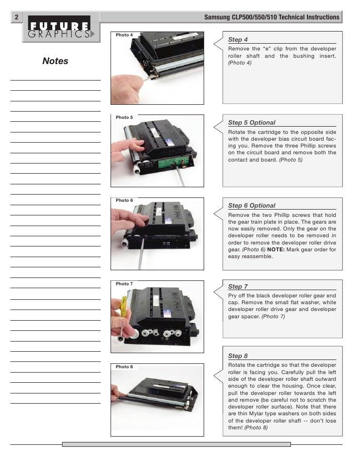 Manual de Recarga Samsung CLP 500 CLP 550
