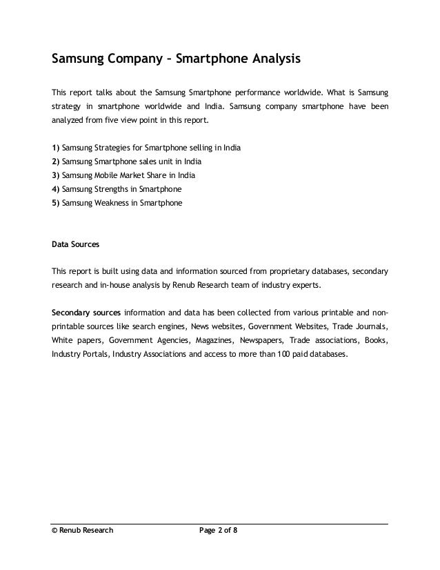 samsung company analysis Samsung - consumer analysis - free download as word doc (doc), pdf file (pdf), text file (txt) or read online for free.