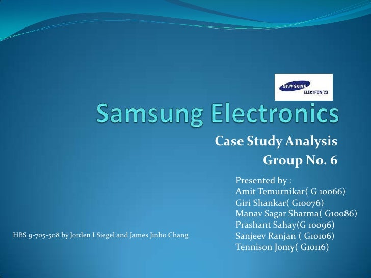samsung case study recommendations Case under study showing problems or effective strategies, as well as recommendations a case study can focus on a business or entire industry.